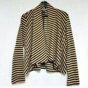 NY Collection open black/tan blazer